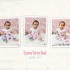 Emma 1st Birthday - ONE - 8x10 collage