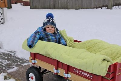 Enzo's 1st Snow