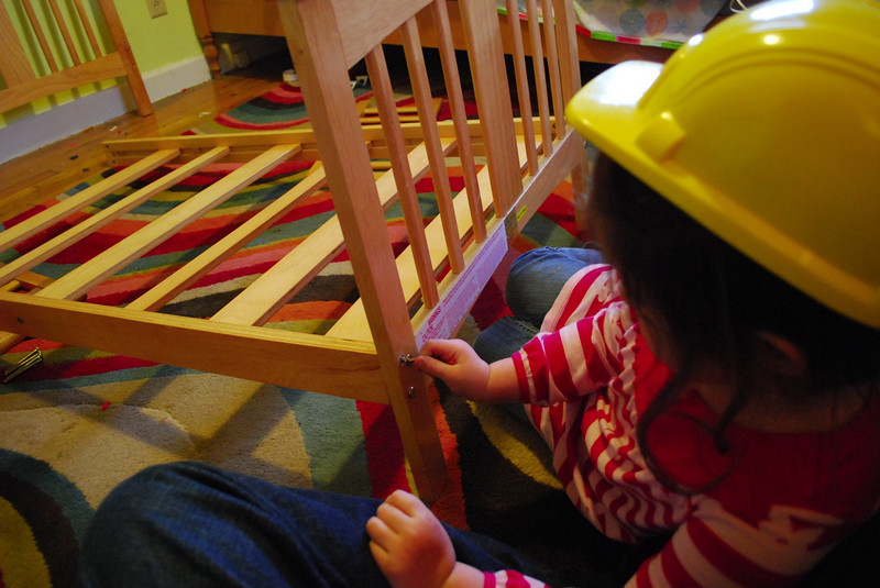 Catherine the Builder shows she knows how to work an Allen Wrench!