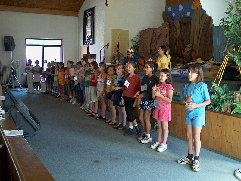Children in Line-up at Church
