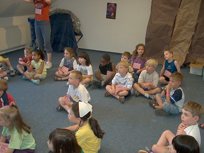 Children in the Fellowship Hall