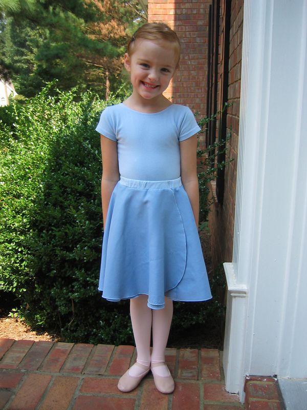 Caroline in her ballet practice outfit.  She absolutely loves ballet!