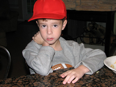 Tyler liked wearing this hat for a little while.