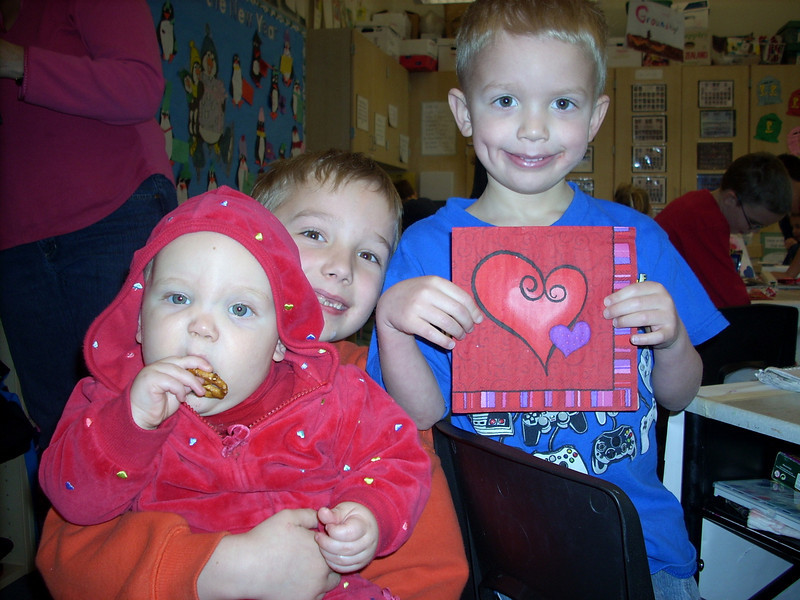 Ian first grade Valentine party.