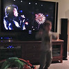Chase is dancing to Bruno Mars during the Super Bowl half time show.  Sorry for the blurry, but all I had was my phone camera and Austin was asleep on my lap, so I couldn't get the camera.