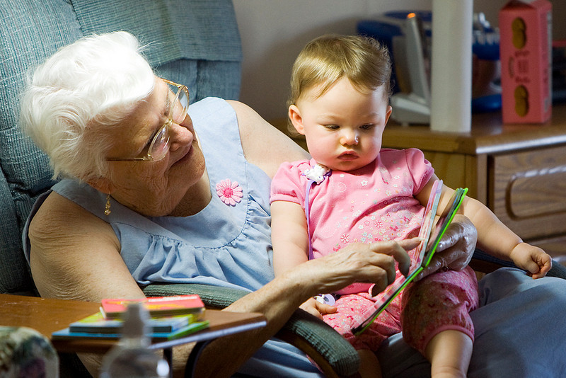 Story time with Great Grandma...