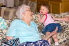 Great Grandma and Kyrie share a smile...
