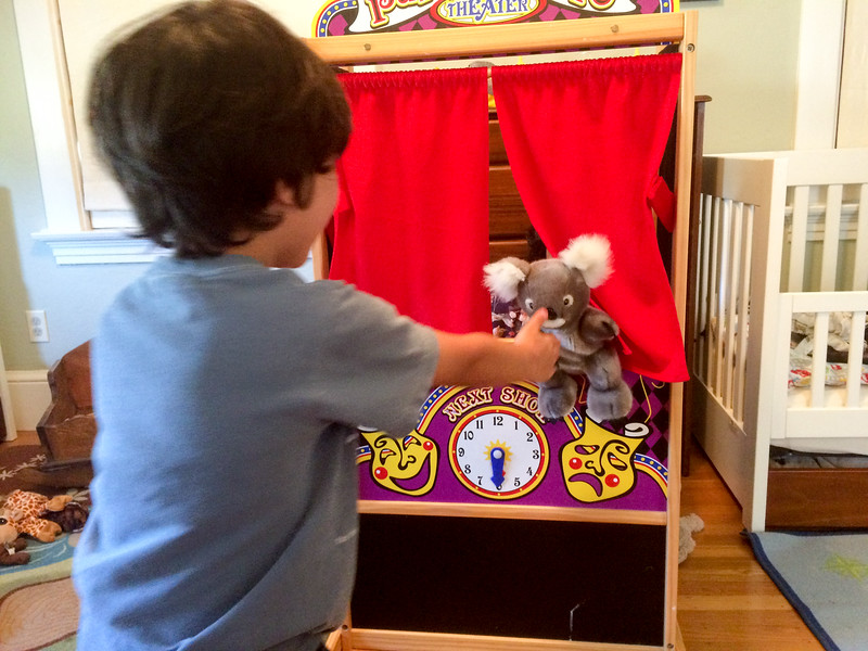 R & I Playing with Puppets