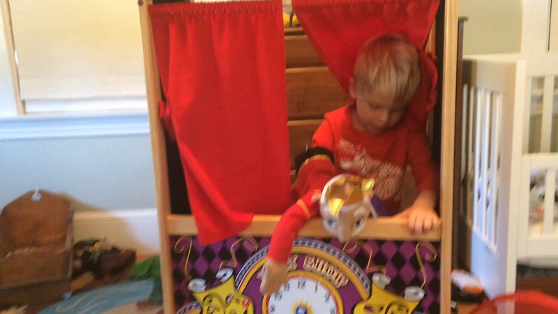 Click to watch video of Ansel in puppet theater.