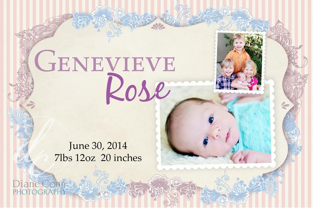 brith annonucement genevieve rose