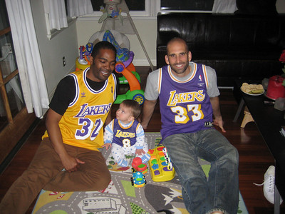 Holden Watching the Lakers with Daddy & Karreem, April 2008