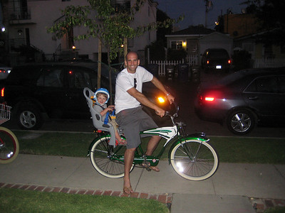 Holden's 1st Bike Ride with Daddy, April 2009