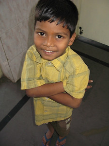 One of the hundreds of very young children at the center abandoned by his family.