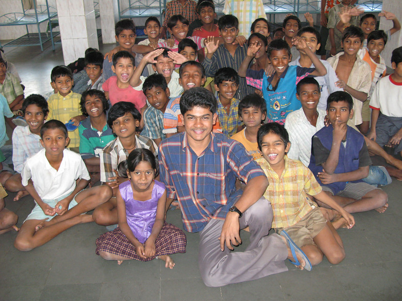 Balraj worked at a center that received very young abandoned child workers.