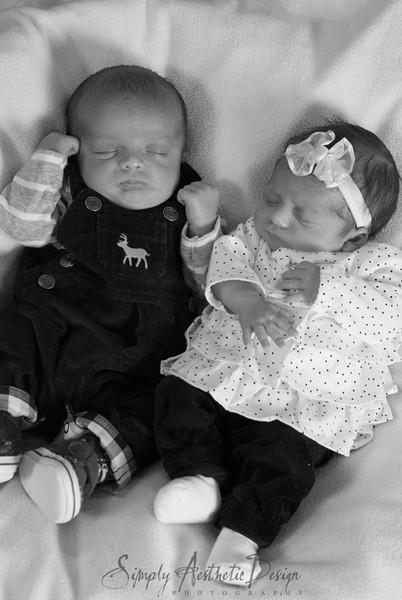 Dzeladini Twins 1 month