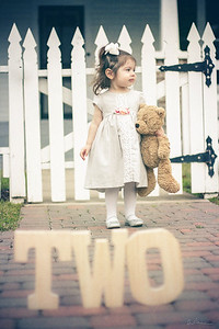 2 Year Photo Shoot- TWO Letters