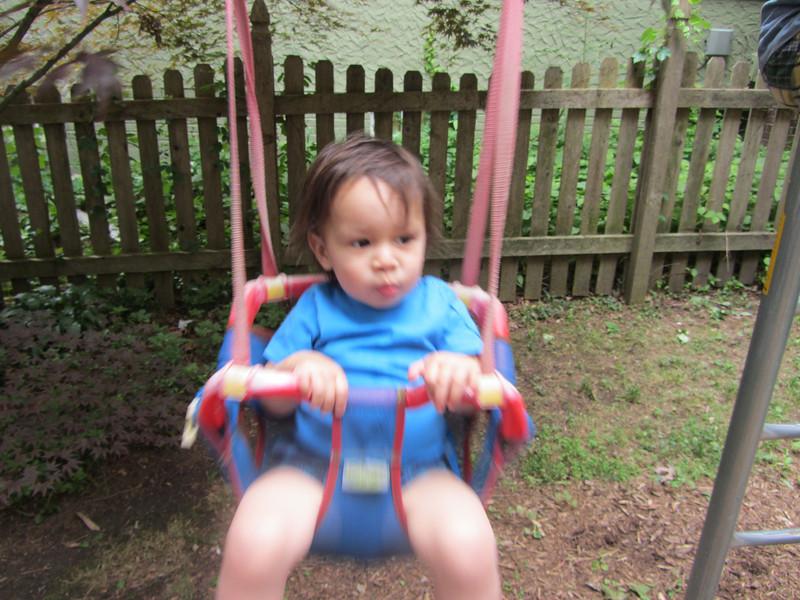 Swingin' in a really old swing!