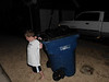 Jace taking out the trash, he wiped out in the neighbor's yard (1)
