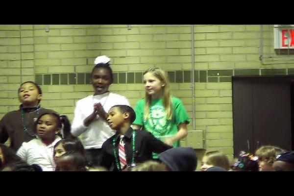 Olivia singing.