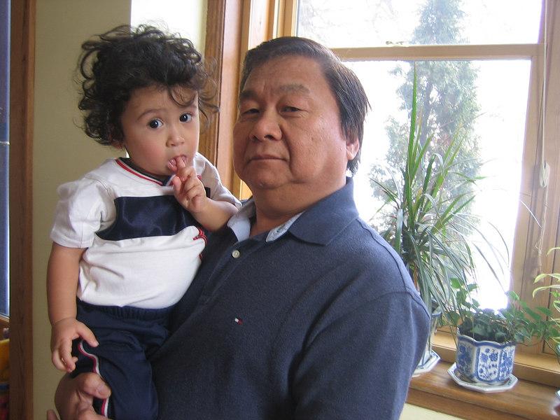 Jaden and Grandpa.