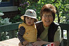 Grandma and Jaden on the terrace.