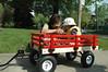 Grandma and Jaden and his spiffy new wagon