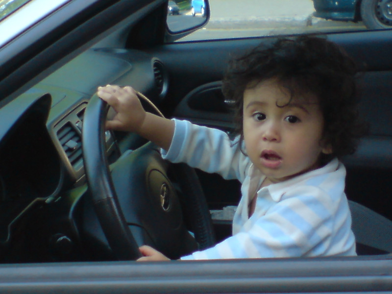 Jaden driving the WRX