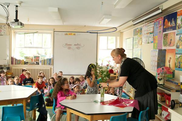 Flowers for the new teacher