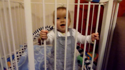 James laughing in play pen 23 Feb 2012