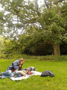 Having a nap at Hatfield Forest (medieval hunting forest)