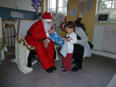 James meets Santa Clause at Snap nursery