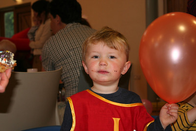 Owen with his balloon!