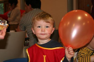 Owen with his balloon