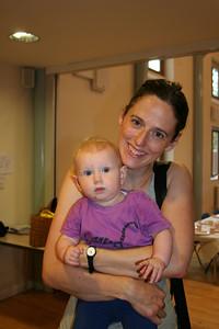 Sarah with Annika