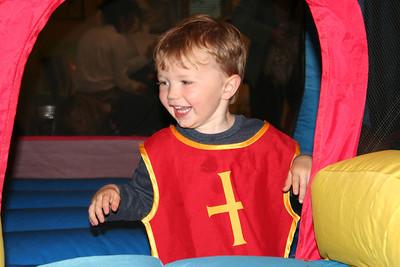 Owen on the bouncy castle