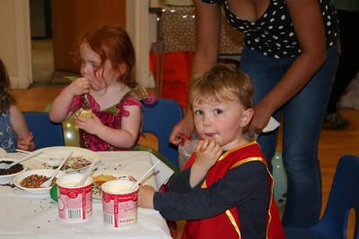 Owen enjoying his cupcake!