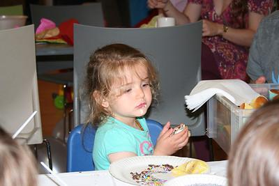 Surena enjoying her cupcake!