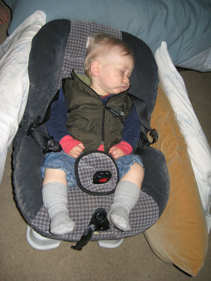 Conked out on his1st birthday