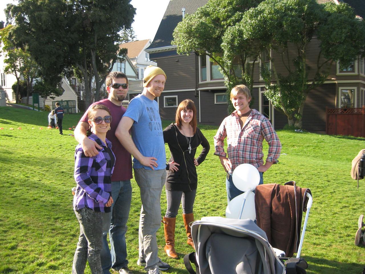 Jen, Uncle Micha, Uncle Pete, Kirian's girlfriend Alex and Willie