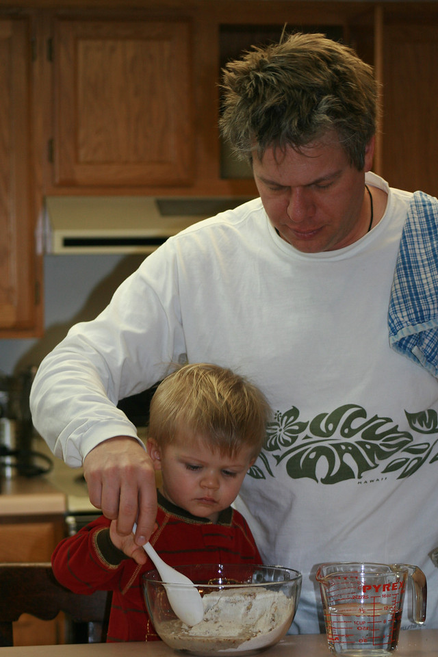 """""""Dad, I can handle the stirring part"""""""