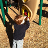 Friday was an even better day, 63 degrees in Sherman!  We went to the park.