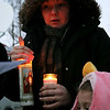 Brittany Gale and her daughter Nyami Rivera, 5, participated in the candlelight vigil Wednesday night for the lost Fitchburg boy Jeremiah Oliver, 5, who has not been sen since Sept. 14, 2013. SENTINEL & ENTERPRISE/JOHN LOVE