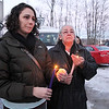 Sarah and Susan smith participated in the candlelight vigil for the lost Fitchburg boy Jeremiah Oliver, 5, on Wednesday night on Kimball Street. Jeremiah has not been seen since Sept. 14, 2013.
