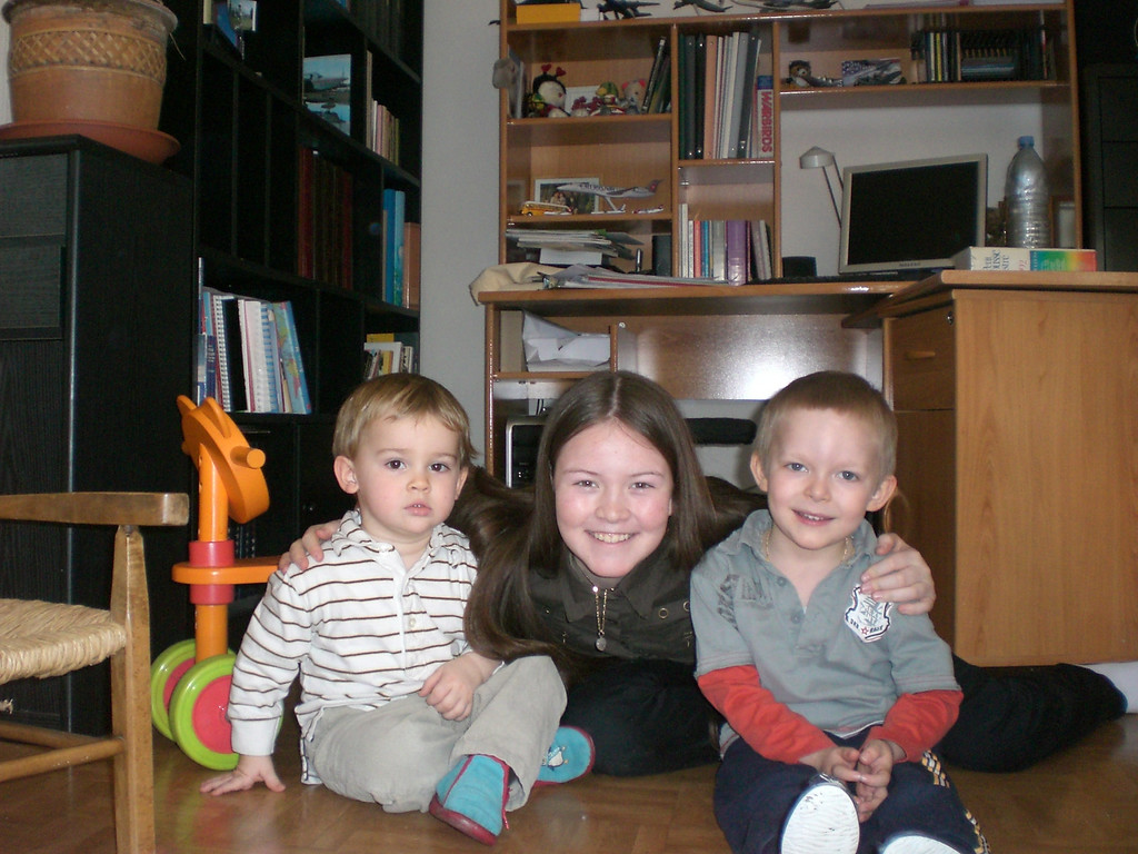 Jack & Emilien with Ophelie, Isabelle's daughter who is such a sweet girl