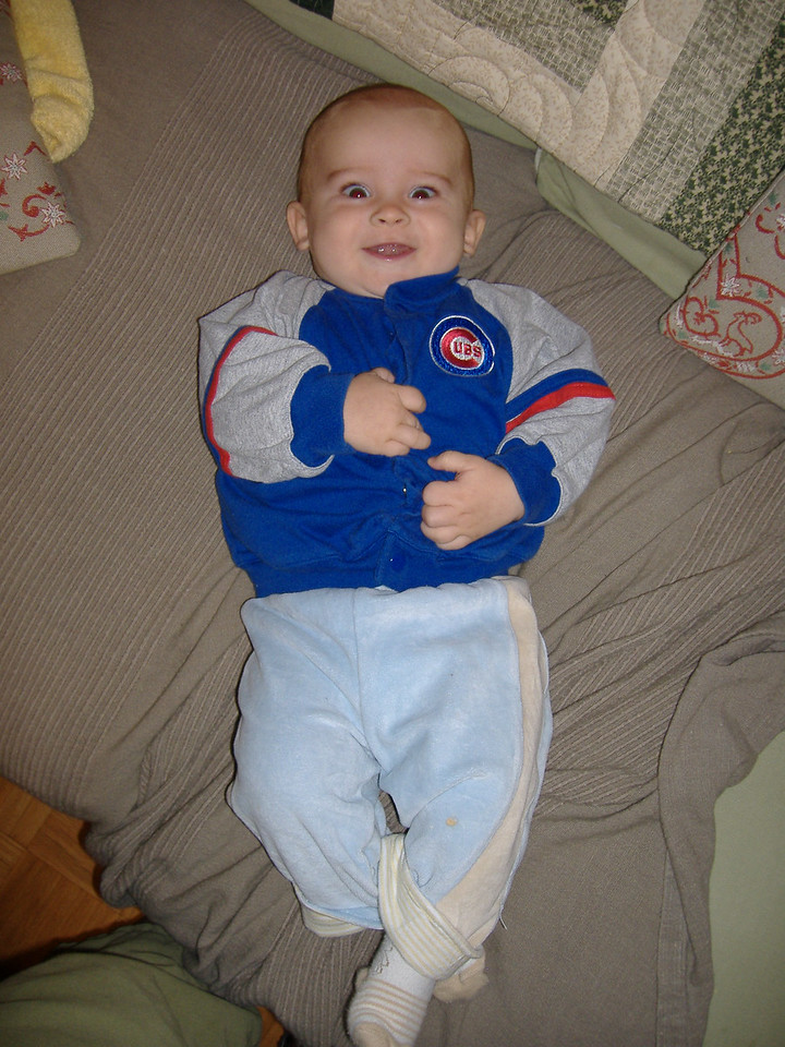 Wearing a chicago Cubs jacket over an England rugby shirt - does this border on child abuse?