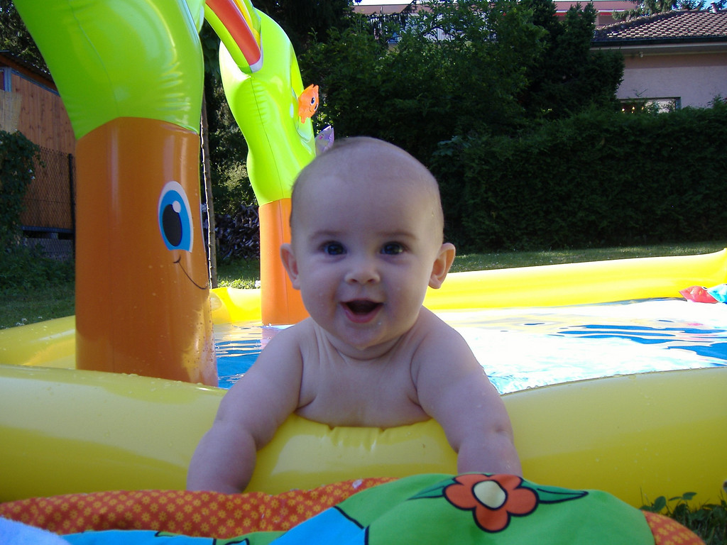 009 Enjoying His 1st Time in the Paddling Pool