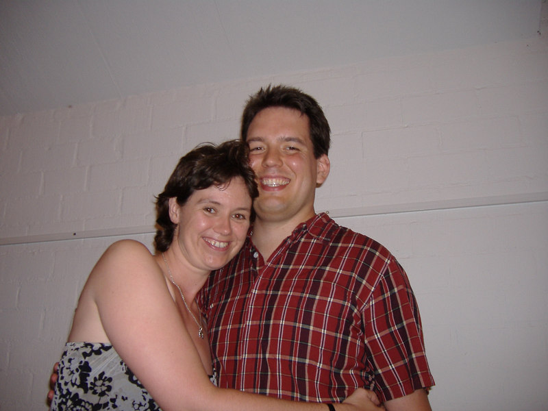 We were at a party celebrating Viv & Michael's marriage & also Michael's 30th birthday.