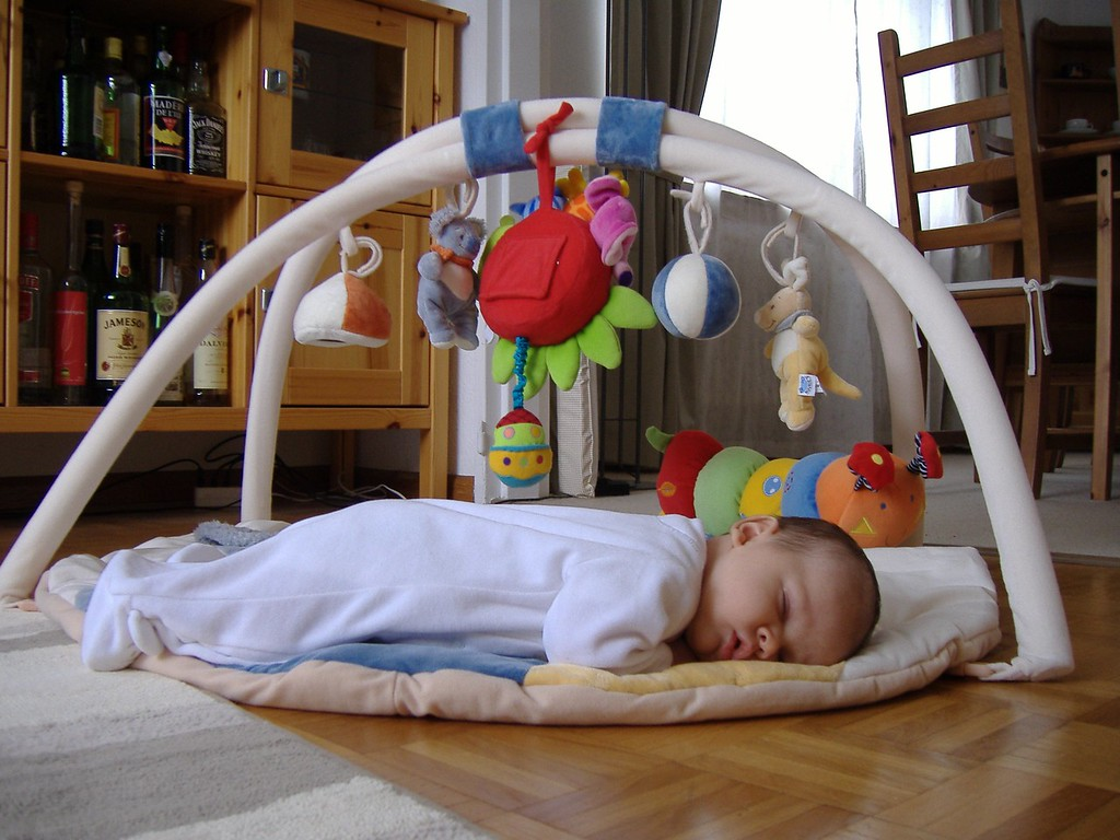 Jack's better at sleeping in his crib, a nap on his belly is a big treat though!