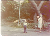 Grandma Wilda Johnston shooting hoops with you at Beth and Jon's wedding