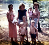 Jackie Lynn's christening at Sunrise Park in Suffield:  Laurie w/Jackie, Matt Mom, JP,Leah,JJ and Aunt Beth